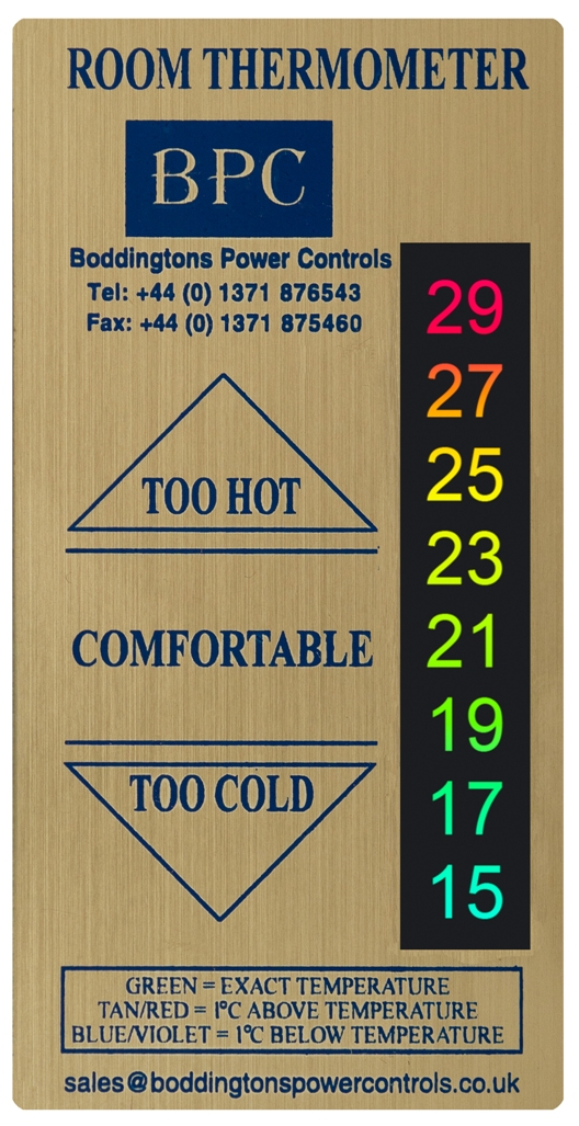 Picture of B34/GR1- BRUSHED GOLD EFFECT ADVERTISING THERMOMETERS